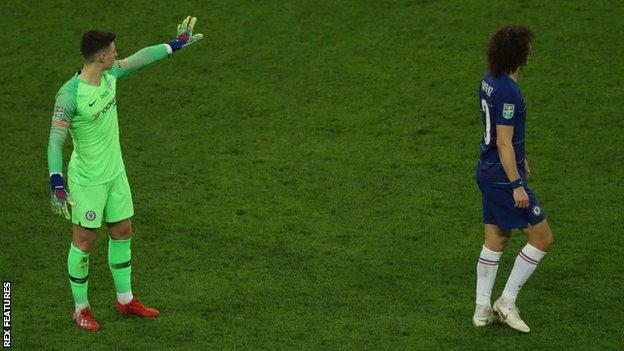 Kepa Arrizabalaga refuses to come off