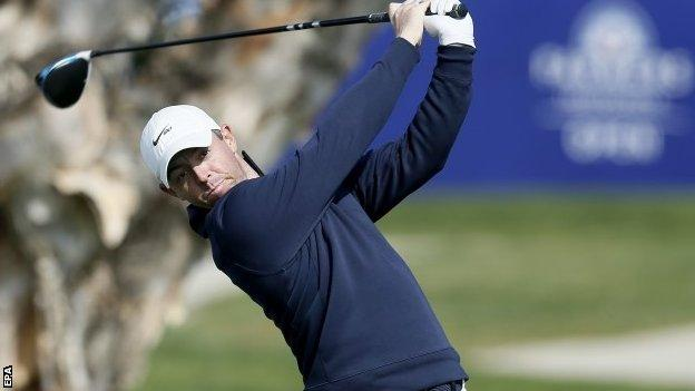 Rory McIlroy playing at the Farmers Insurance Open in California