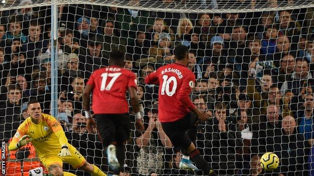 Manchester City 1 2 Manchester United Ole Gunnar Solskjaer S Side Dent City S Title Hopes Bbc Sport
