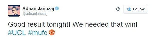 Adnan Januzaj on Twitter