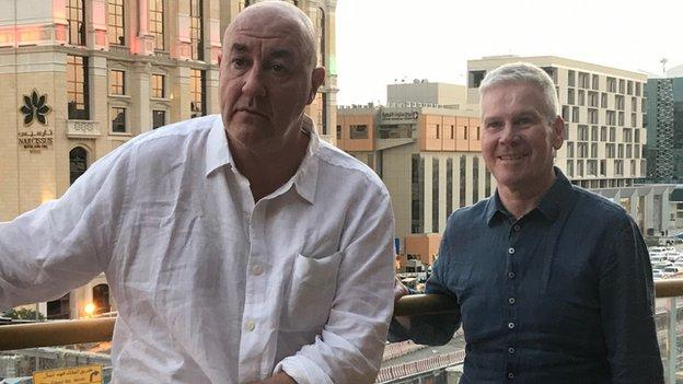 Mike Costello (right) and Steve Bunce have travelled the world calling the biggest fights for BBC Sport in 2019