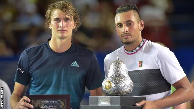 Kyrgios, Becker in war of words over Zverev's partying video