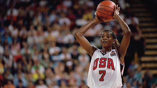 Sheryl Swoopes at the Sydney Olympics, 2000