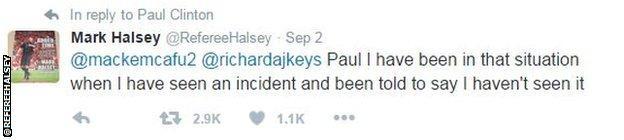 Mark Halsey tweet
