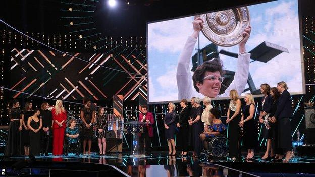 Billie Jean King at BBC Sports Personality of the Year