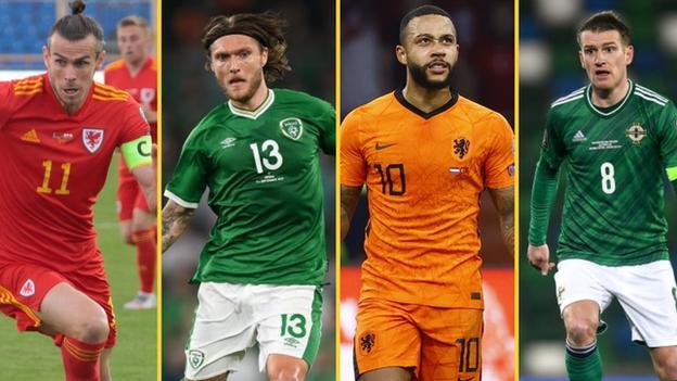 Gareth Bale, Jeff Hendrick, Memphis Depay, Steven Davis