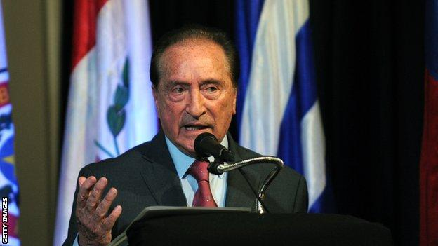Eugenio Figueredo when he was a Fifa vice president