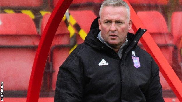 Paul Lambert watches on