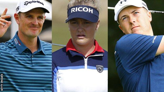Justin Rose Charley Hull and Jordan Spieth
