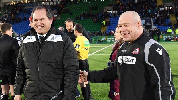 Glasgow head coach Dave Rennie and Edinburgh counterpart Richard Cockerill