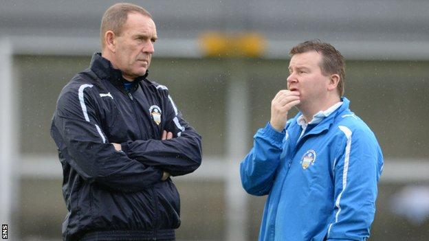 Kenny Shiels and Andy Bryan