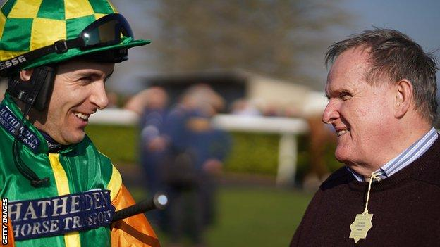 Paisley Park's owner Andrew Gemmell and jockey Aidan Coleman