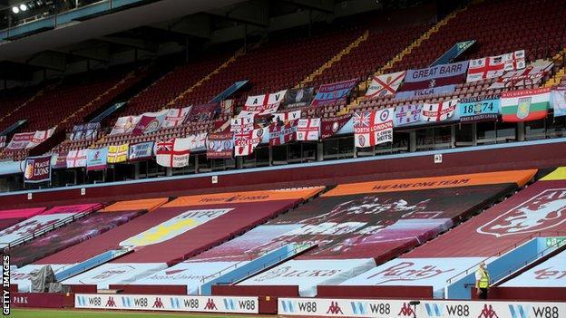 Banners at Villa Park