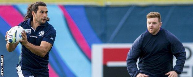 Scotland forward Blair Cowan in training