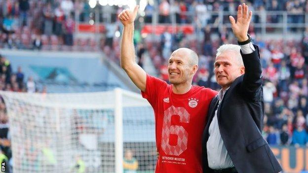 Arjen Robben and Jupp Heynckes