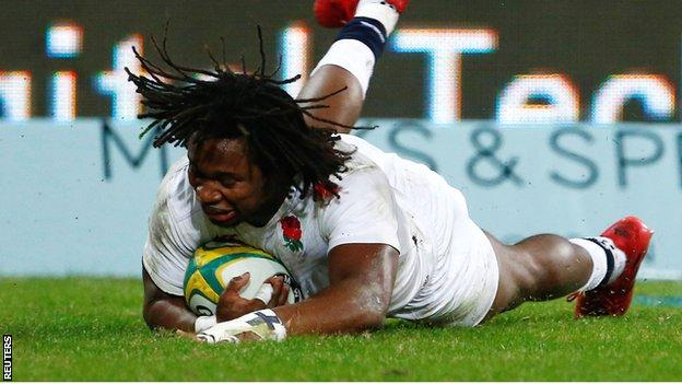 Marland Yarde scores for England