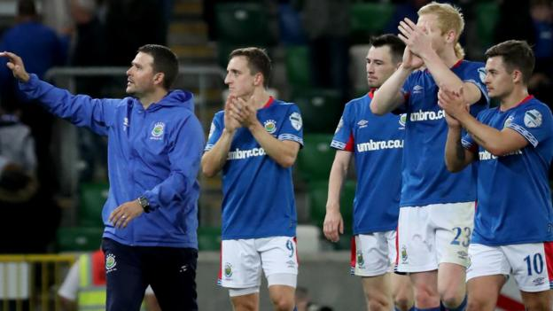 Europa League: David Healy's steady hand puts Linfield on brink of £4m windfall