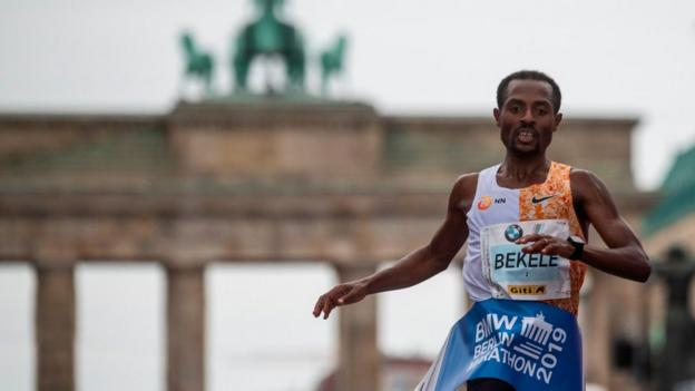 Kenenisa Bekele at the Berlin Marathon