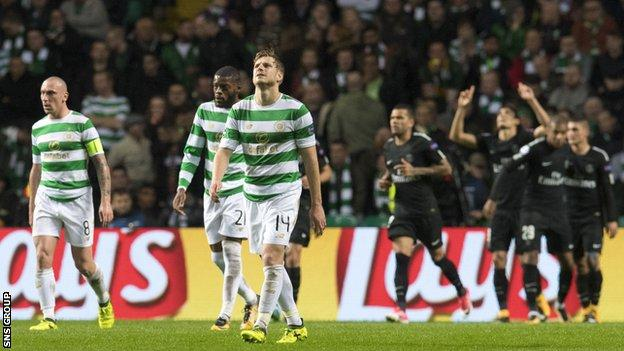 Celtic were 3-0 down at half time in Glasgow