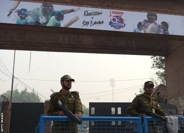 Pakistan security for Sri Lanka's visit