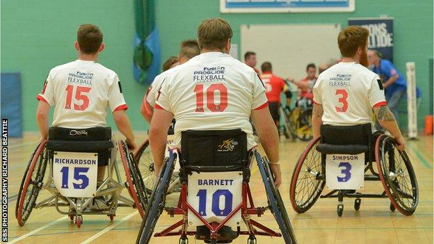 England's wheelchair rugby league side