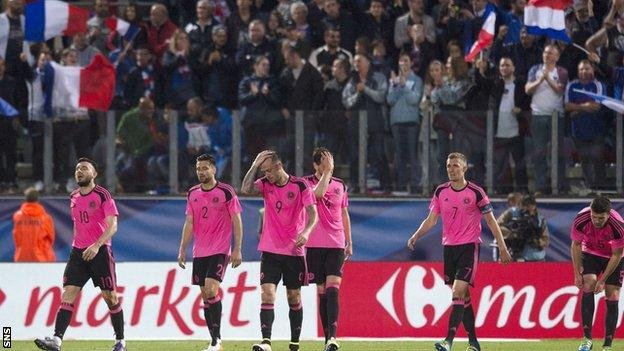 The Scotland players were outclassed at times by an impressive French team