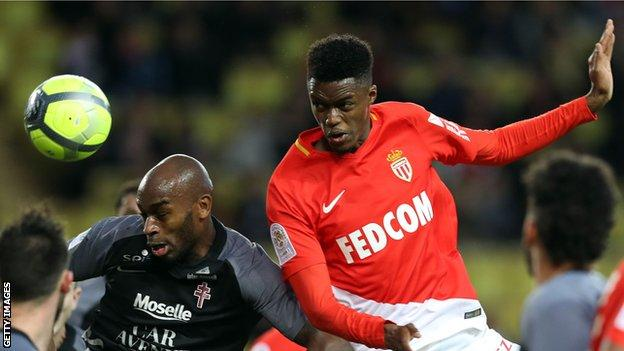 Adama Diakhaby in action for Monaco