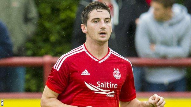 Kenny McLean in action for Aberdeen