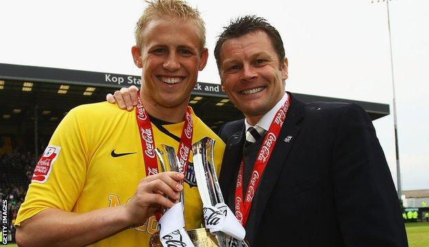Kasper Schmeichel (left) and Steve Cotterill
