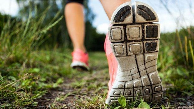 women's legs running