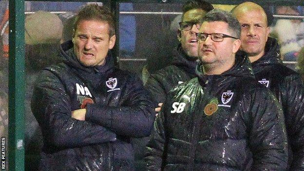 Neal Ardley (left) and Simon Bassey