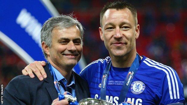 Jose Mourinho (left) and John Terry