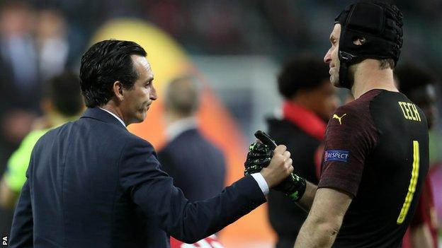 Unai Emery and Petr Cech