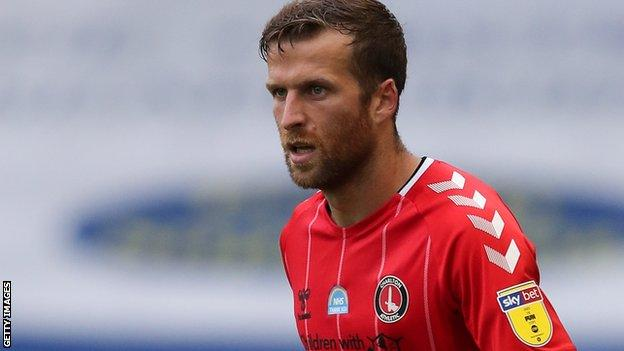 Adam Matthews in action for Charlton