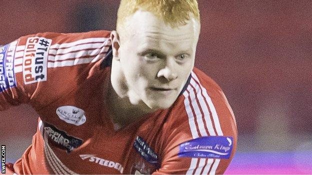 Josh Wood in action for Salford