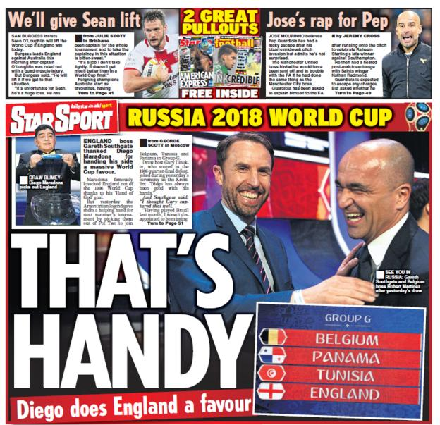 The Star back page on Saturday