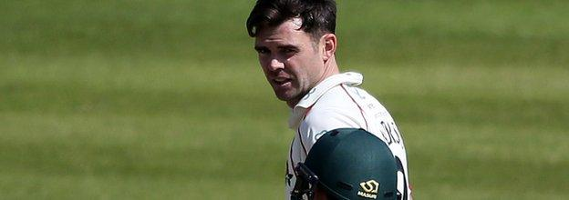 James Anderson's first victim was his former Lancashire team-mate Steven Mullaney