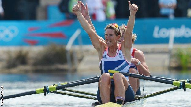 Katherine Grainger won gold in London after three silvers
