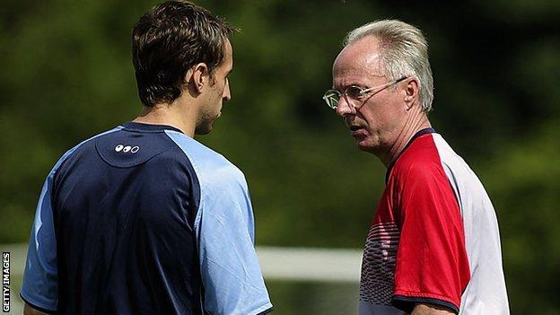 Gareth Southgate and Sven-Goran Eriksson