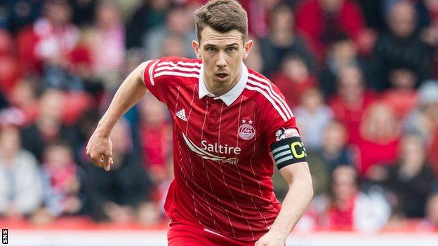 Aberdeen captain Ryan Jack