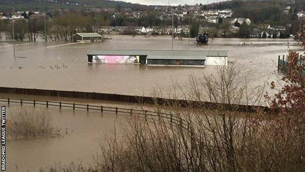 Bradford and Bingley Cricket Club after the floods