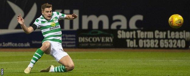 James Forrest scores for Celtic against Dundee