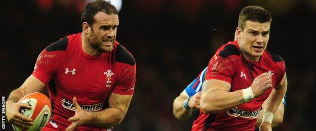Jamie Roberts (left) and Scott Williams in action together for Wales