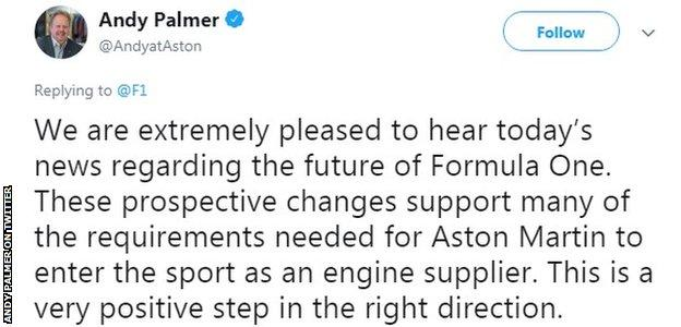 And Palmer on Twitter