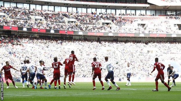 Tottenham play Fulham at Wembley
