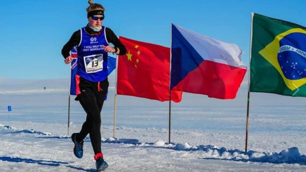 World Marathon Challenge: Britain's Susannah Gill wins after runs in seven continents thumbnail