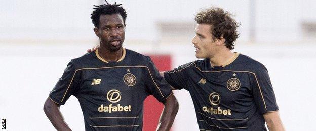 Celtic's Efe Ambrose and Erik Sviatchenko