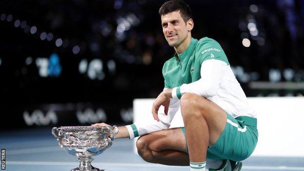 Novak Djokovic equals Roger Federer's world number one record (2021)