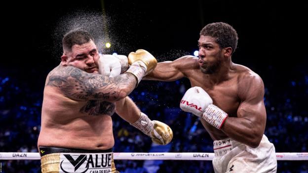 Anthony Joshua punches Andy Ruiz Jr