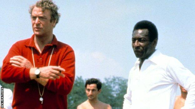 Pele and Michael Caine